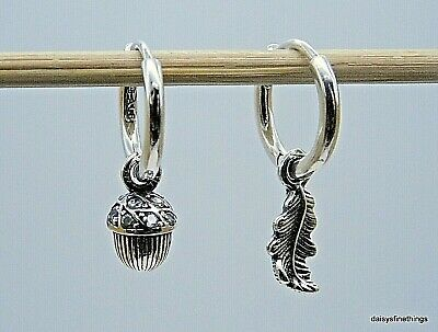 Winter Jewelry Details about  /Autumn Pine cone /& Acorns Silver Lever Back Earrings Woodland