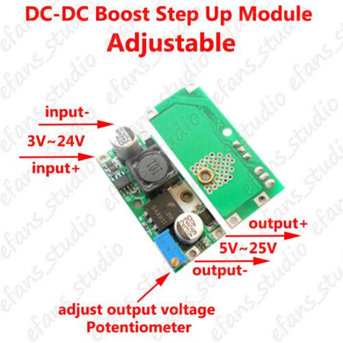 DC 3-24V to 5~25V 12V   Adjustable Converter  Power Boost Step up Supply Module