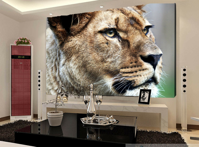 3D Tierwelt Löwe 863 Tapete Wandgemälde Tapete Tapeten Bild Familie DE Summer | Am praktischsten  | Deutschland Berlin  | Online Shop