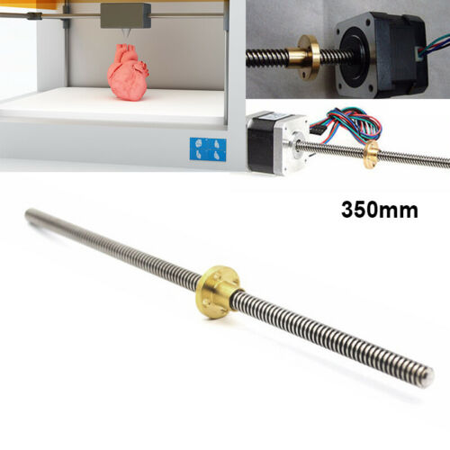 T8 3D Printer 8mm Lead Screw Rod Z Axis Linear Rail Bar Shaft 300mm 350mm 400mm