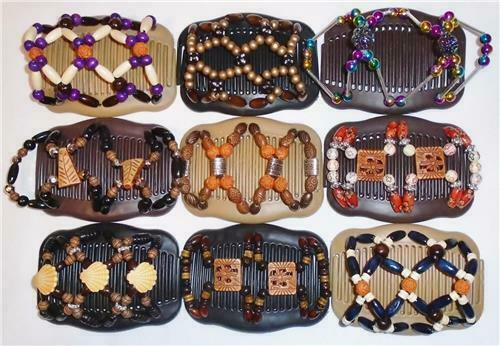 """Magic Combs African Butterfly Style Quality S67 Angel Wings Hair Clips 4x3.5/"""""""