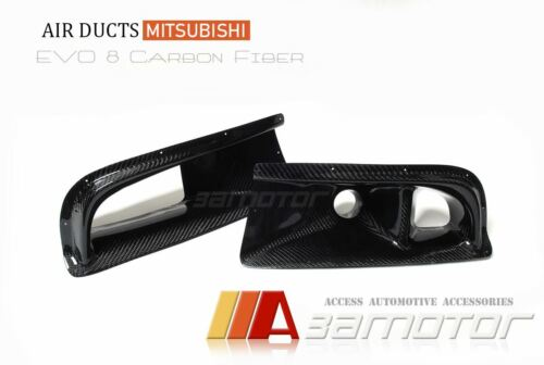 Carbon Fiber Front Bumper Air Intake Ducts for Mitsubishi Evolution VIII EVO 8