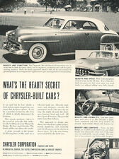 1952 Chrysler Plymouth  - Vintage Advertisement Car Print Ad J493