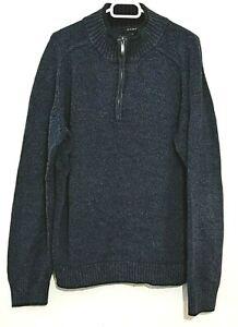 GANT Herren Pullover Blau Troyer Feinstrick 100% Cotton Gr. XL  #LRS1433