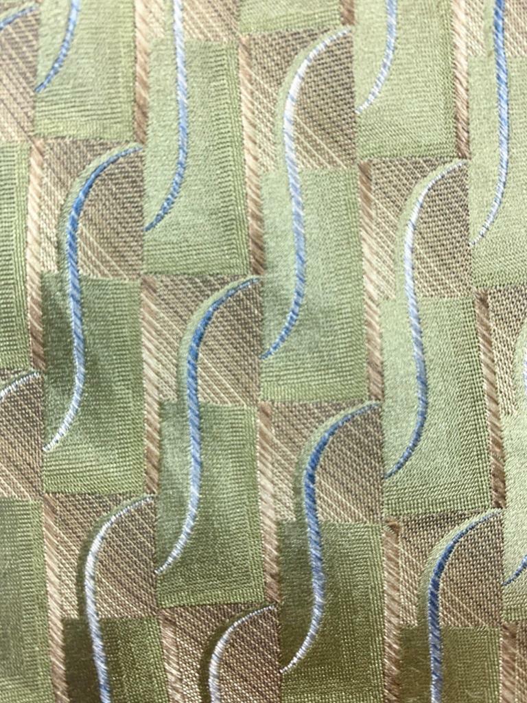Arrow USA 1851 Licht Seegrün Khaki Gewellt Block Seide Krawatte MFE1221B #B17