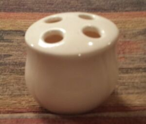 Details about Ceramic Toothbrush Holder Beige Pre owned