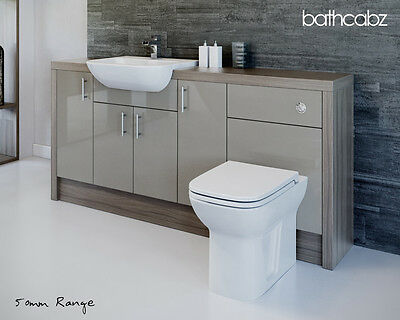 LATTE / DRIFTWOOD BATHROOM FITTED FURNITURE 1800MM