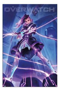 Overwatch-Sombra-Gaming-Poster-Offiziell-Lizenziert-61x91-4cm
