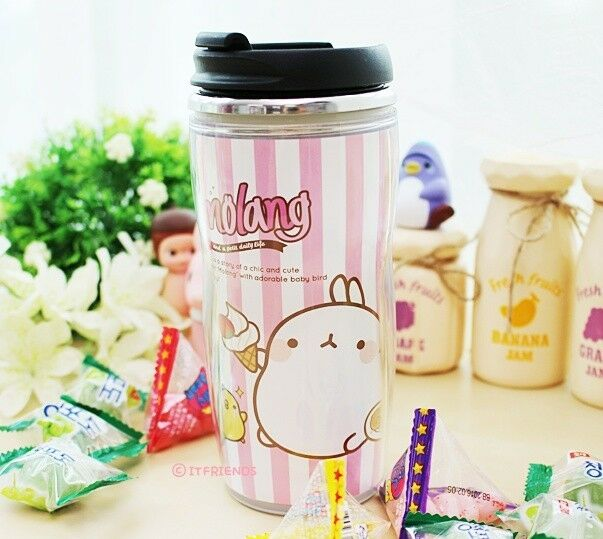 Molang Lovely Cute rabbit Bunny Stainless Tumbler(ice cream)