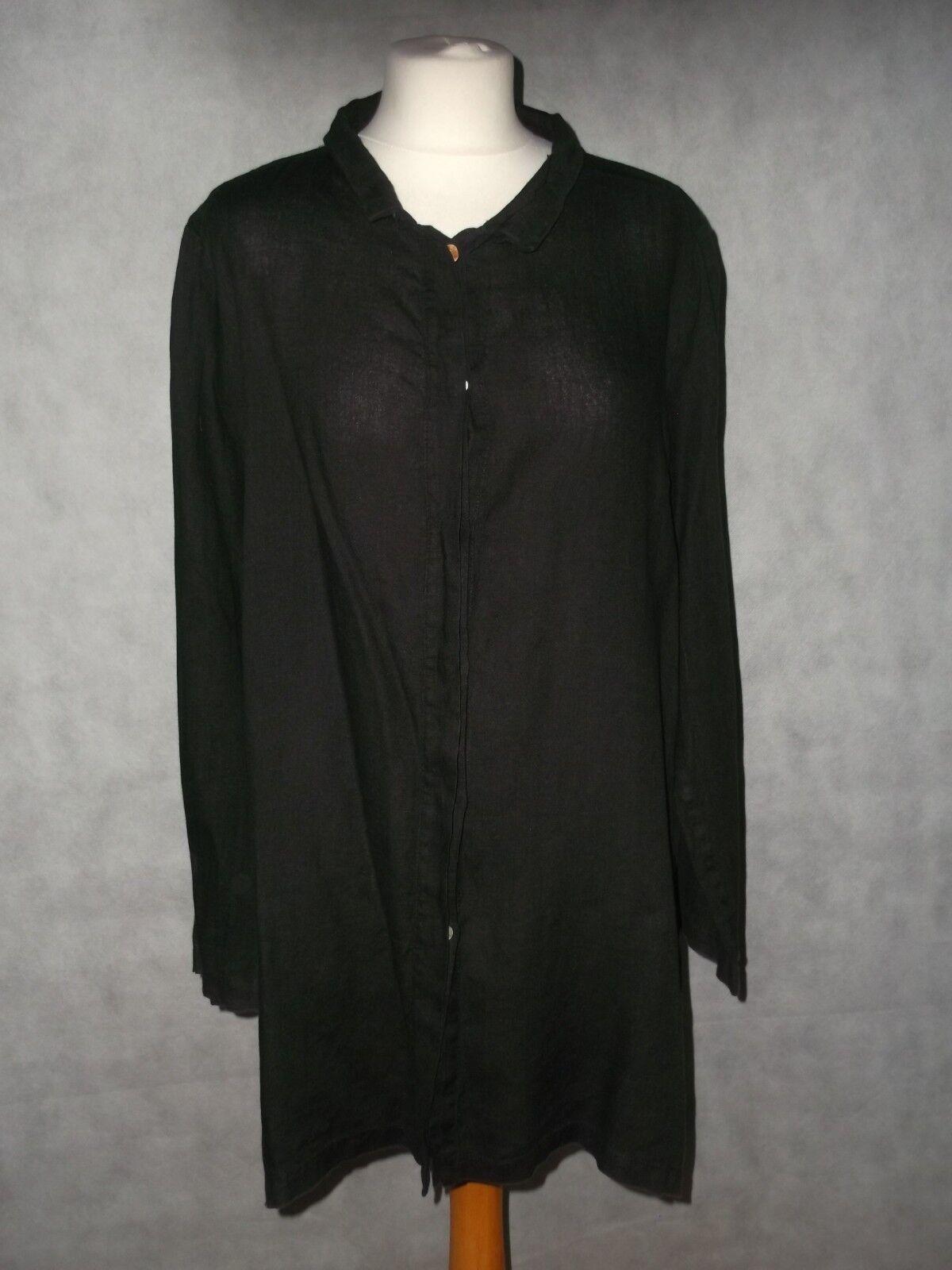 SARAH PACINI pure quality linen overGrößed shirt Größe 2