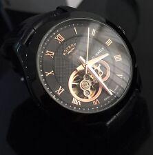 Para Hombre Negro Automático Rotary Les Originales 21 Joya Suizo Reloj GS90513/10
