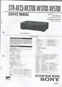 370x 570x Sparen Sie 50-70% 270x Sony Original Service Manual Für Str-av 23