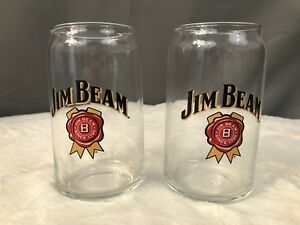 Collectible-Glasses-NEW-2-12oz-NICE-Beer-Glass-Whiskey-Jim-Beam