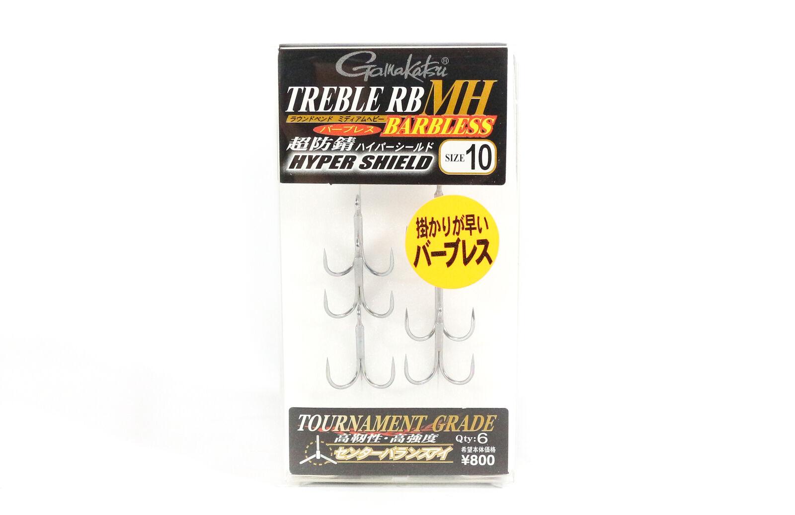 Gamakatsu Treble Hook RB MH BL Barbless Hyper Shield Size 5 9168