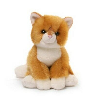 "RETIRED GUND  CAT -  9"" MILES  KITTEN - CREAMSICLE ORANGE + WHITE -  #4054151"