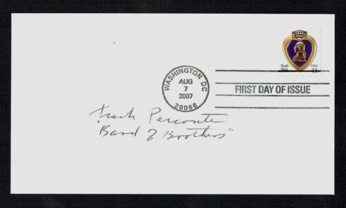 Frank Perconte d. 2013 signed autograph First Day Cover Band of Brothers Easy Co