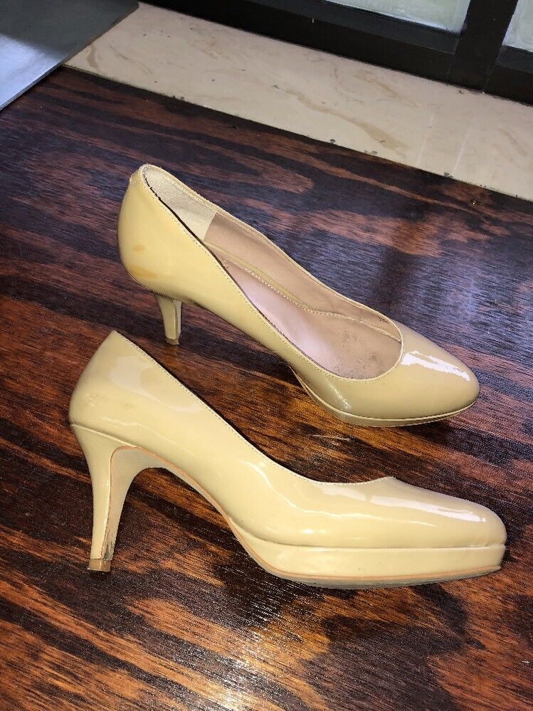 Vince Camuto Desti Beige Nude Womens Patent Leather Pumps Heels Womens Nude Size 6 1/2 f7127a