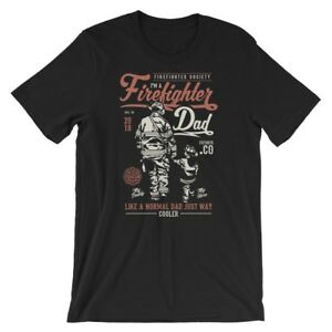 af1b97cf Image is loading Firefighter-Dad-T-Shirt-100-Cotton-Premium-Tee-