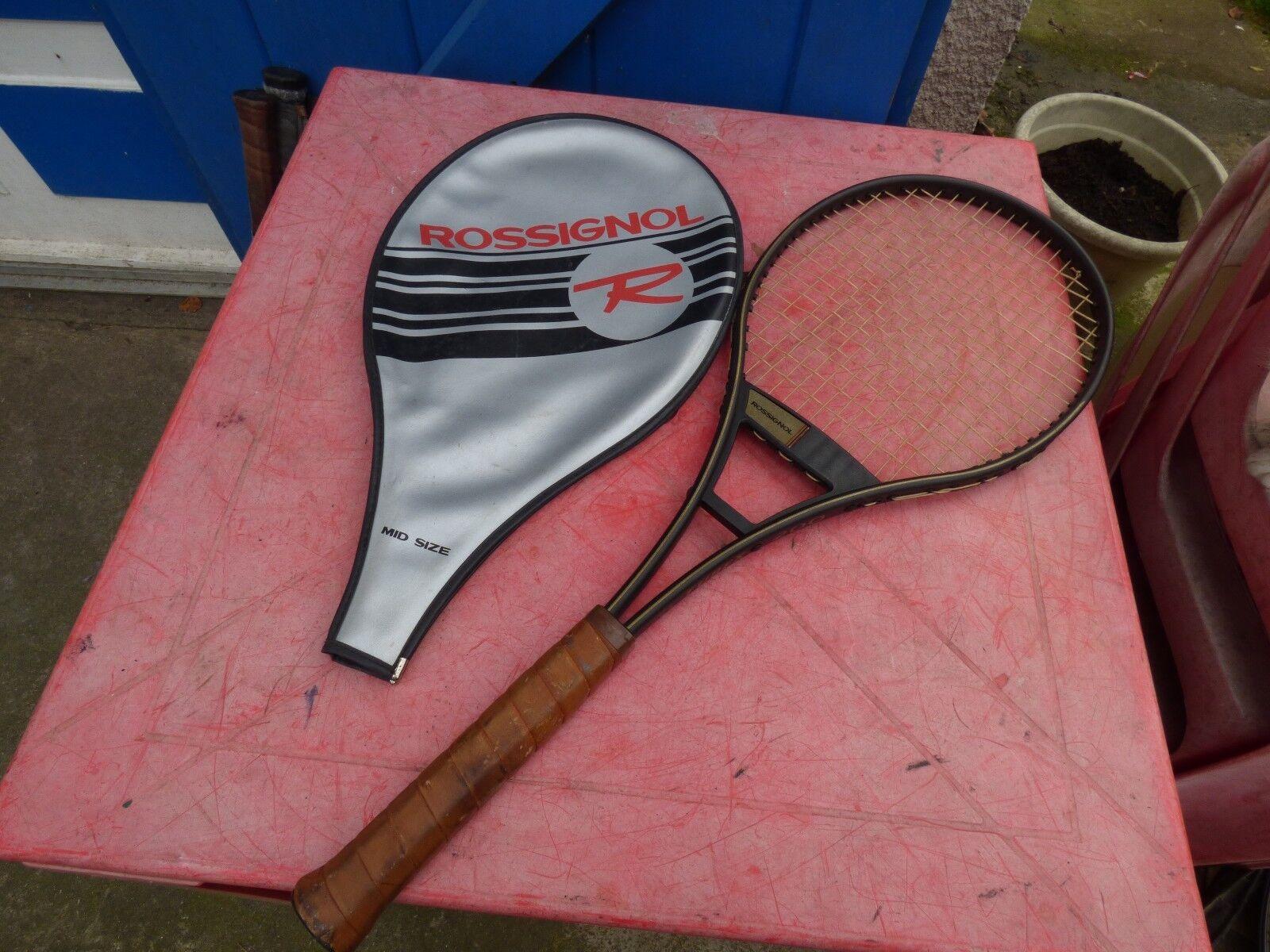 Raquette de tennis vintage Rossignol Tubex 200 made in USA  avec housse