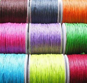 Baumwoll-Kordel-5-Meter-Cotton-Wax-Band-1mm-SERAJOSY-Flechtkordel-Flechtband