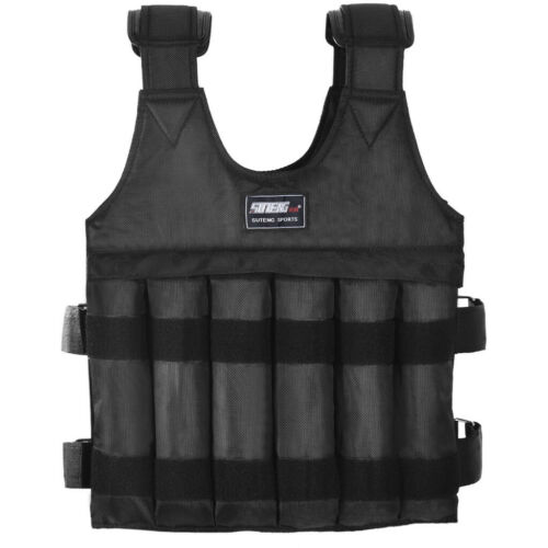 110lb Weight Vest Training Workout Fitness Exercise Strength Home Gym Equipment