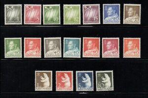 Greenland-Sc-48-6-1963-Frederik-IX-amp-Polar-Bears-long-stamp-set-mint-NH