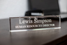 Personalized Acrylic Desk Name Plate Office Desk Accessories Dcor