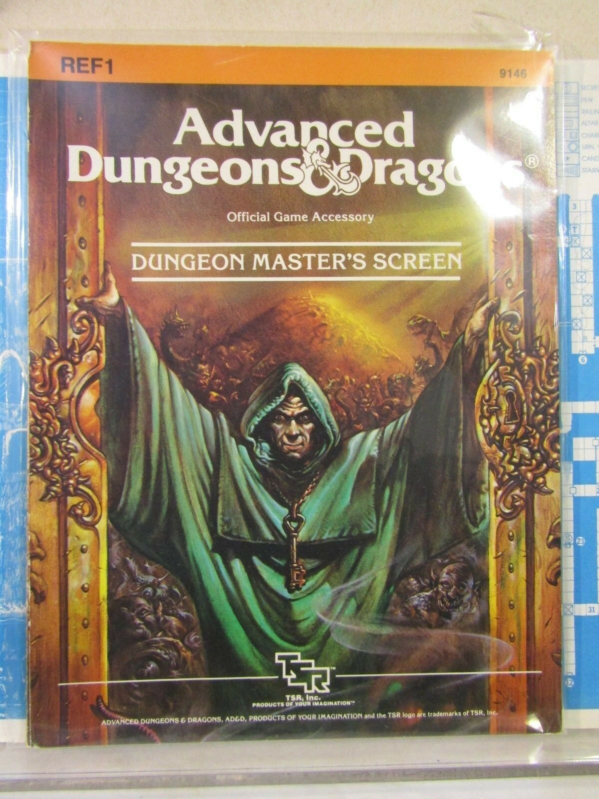 TSR 9146 Dungeon Master's Screen REF 1 for AD&D
