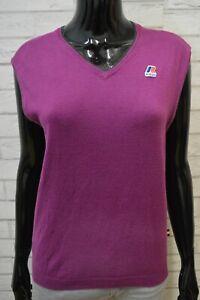 K-WAY-Maglione-Donna-Taglia-M-Maglia-Felpa-Pullover-Sweater-Smanicato-Cashmere