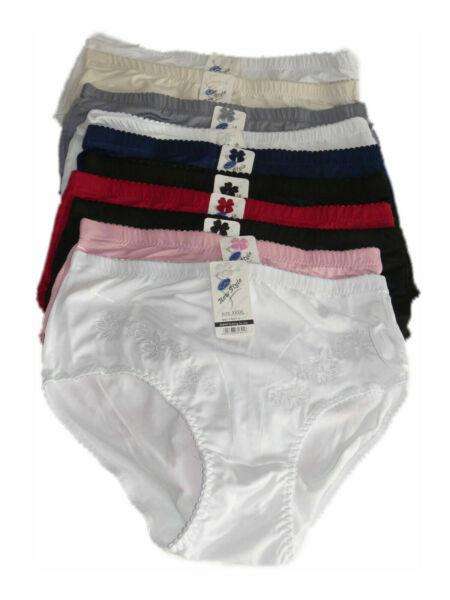 10 Stück Damen Slips Schlüpfer Pants Unterwäsche Unterhosen N56 Übergröße Farben