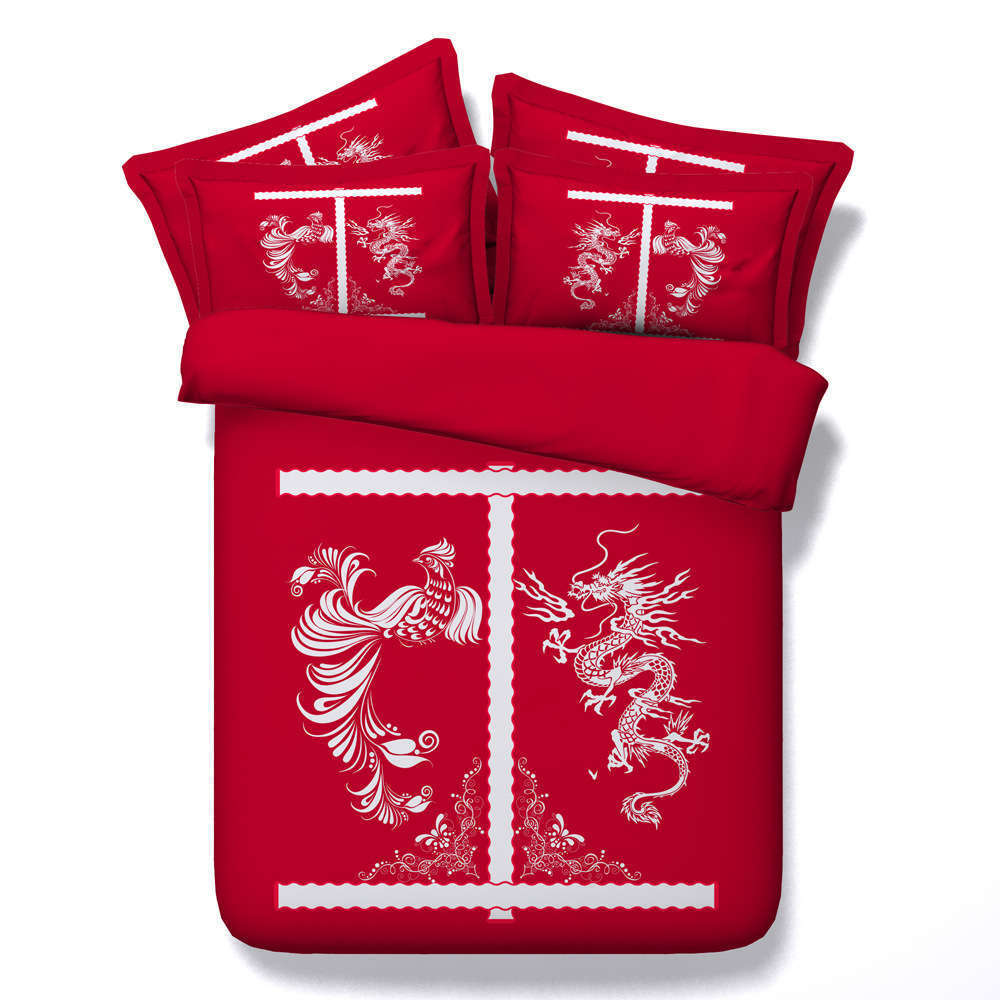 Long Feng Present 3D Printing Duvet Quilt Doona Covers Pillow Case Bedding Sets