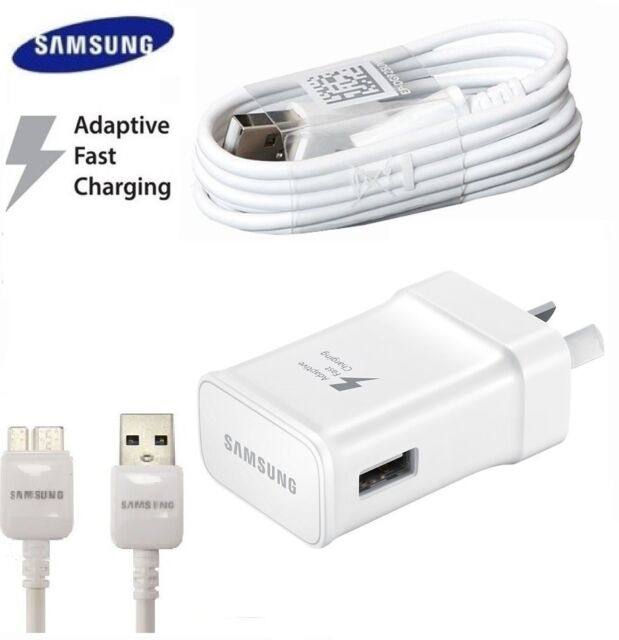 GENUINE SAMSUNG FAST AC Wall Charger For S10e S9 S8 S7 6 Edge Note 5 8 3.0 Cable