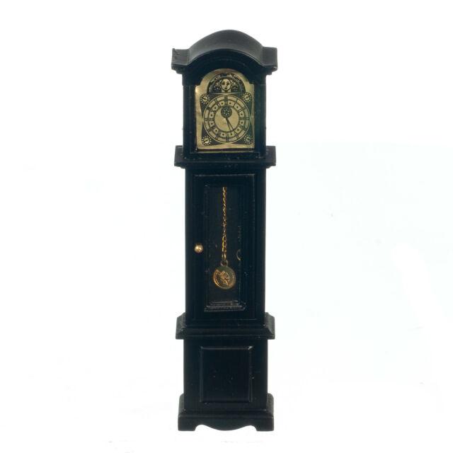 Dollhouse Miniature 1:12 Grandfather Clock - Black - US SHIPPER