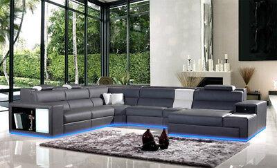 Oprecht Leder Sofa Couch Eck Polster Garnitur Xxl Wohnlandschaft Couchen Sofas B2006 S