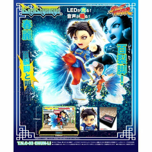 BIG BOYS TOYS STREET FIGHTER THE THE THE NEW CHALLENGER FIGURE TNC-03 CHUN-LI NUOVO NEW 2bf496