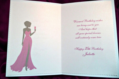 21st 25th 40th 50th 1554RP Personalised Handmade Birthday Card 30th 18th