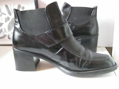 Gabor Fashion Damen Schuhe.Damen Stiefeletten. Leder, Lackleder. Gr. 4,5.TOP.