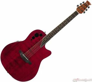 Ovation-Applause-Elite-Acoustic-Electric-Guitar-Ruby-Red