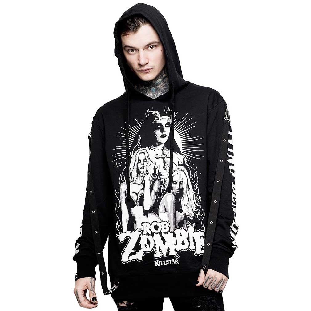 Killstar X Rob Zombie Gothic Punk Kapuzenpullover - Living Dead Girl Hoodie