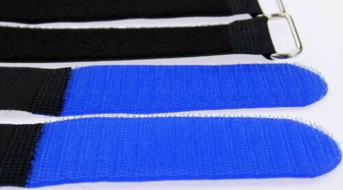 40 Klettbänder Kabelklett 500 x 50mm blau Kabel Klett Band Kabelbinder Klettband