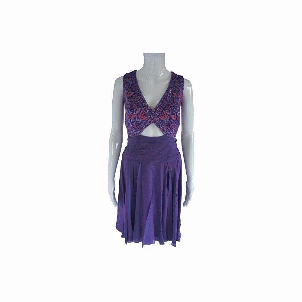Tadashi Shoji Brodé Violet Corset et culottes jupe formelle robe