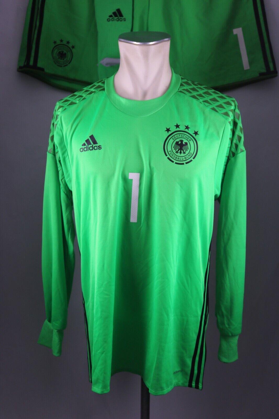 Deutschland DFB Trikot Torwart Set 2016  Adidas Jersey Gr. 7 M DFB Hose Germany