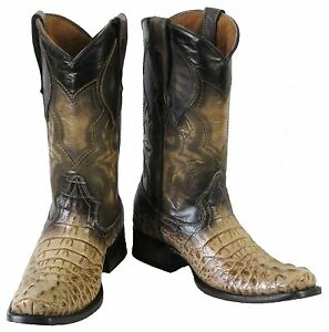 Vierkante Laarzen Krokodil Western Design Heren Cowboy Zand Leren Hoofd 0vwmNn8
