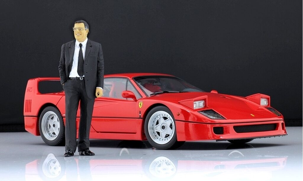 Sergio Pininfarina Figure for 1 18 Kyosho Ferrari 308 328  GTB 365 VERY RARE  protection après-vente