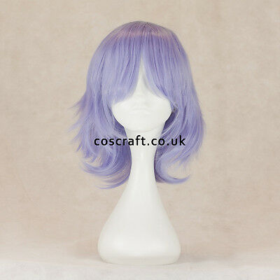 Medium flick cosplay costume wig in pale lilac, UK SELLER, Ash style