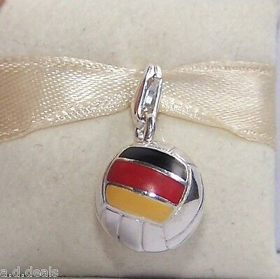 THOMAS SABO Sterling Silver SOCCER BALL with GERMANY FLAG CHARM 692 RRP $97