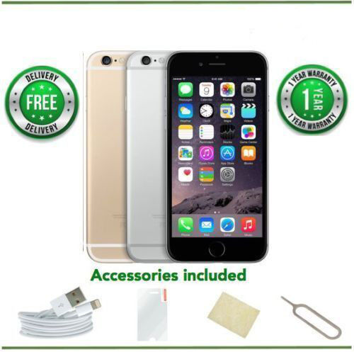 1 of 1 - Apple iPhone 6 -16/64/128GB - Gold/Silver/Grey - Unlocked - Grade A/B/C