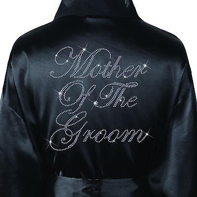 Wedding Day Rhinestone Satin Mother Of The Groom Bathrobe Kimono Dressing Gown Buy One Give One Women's Clothing