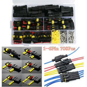Boxed Motorcycle Electrical Wire Terminals Connectors Kit 1 6pin Way 708pcs Set Ebay