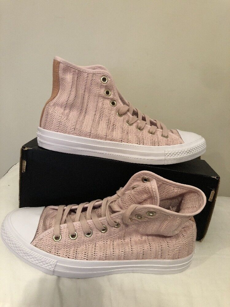 Converse Chuck Taylor All Star Hi Barely Rose Tan Womens Mesh High-Top Sz 9.5